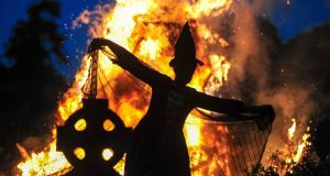 A witch from the Spirits of Meath Halloween festival. Photograph: Barry Cronin