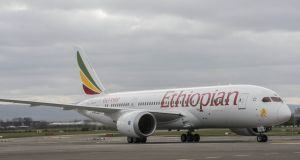 An Ethiopian Airlines flight had to dump thousands of litres of fuel and return to Dublin after they experienced engine problems over the Atlantic.File photograph: Brenda Fitzsimons / The Irish Times.