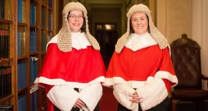Denise McBride QC (left) and Siobhan Keegan QC have become the first women to be appointed as High Court judges in Northern Ireland. Photograph: NI Judicial Appointments Commission/PA Wire.