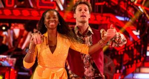 Jamelia and her dance partner Tristan MacManus during a dress rehearsal for  Strictly Come Dancing. Photograph: PA