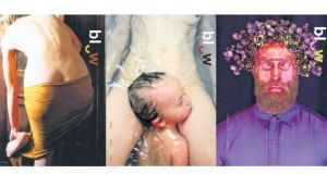 From left: Issue 03: Body (2011). Cover image: Elina Brotherus/Model Study 15 (2004); Issue 11: Family (2014).  Cover image: Fred Hüning, from the series Drei/Untitled (Bathtub II), 2011; Issue 08: New Pictorialism (2013). Cover image: Madame Peripetie, from the series: Dream Sequence/Blood (2012)