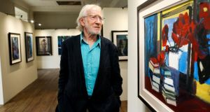 Brian Ballard at his retrospective at Rathfarnham Castle