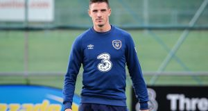 Republic of Ireland international Ciaran Clark returns to the Aston Villa squad for their home clash against Swansea. Photograph:   Steve Langan/Inpho