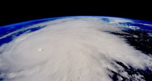 Hurricane Patricia as it appeared from the International Space Station. Photograph: Scott Kelly/Nasa/Twitter