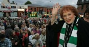Actress Maureen O'Hara opens the Ranelagh Arts Festival in 2010. The opening was something of a homecoming as the Hollywood star was born and grew up in Ranelagh. Photograph: Frank Miller/The Irish Times