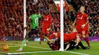Sadio Mané's late goal secured Southampton a 1-1 draw at Anfield. Photograph: Reuters