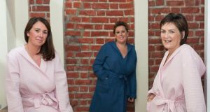 Oonagh Horgan, Sara O'Hare and Debbie O'Brien, all of whom had reconstructive surgery following a breast cancer diagnosis. Photograph: Dave Meehan