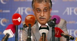Sheikh Salman Bin Ebrahim Al Khalifa has formally submitted his candidature for the Fifa presidence. Photograph: Reuters