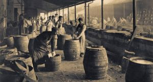 The Beamish and Crawford cooperage in 1900. The brewery was once the biggest in the country, producing more stout than Guinness