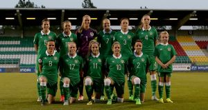 The Republic of Ireland women's team beat Portugal to put Euro 2017 hopes back on track. Photograph: Donall Farmer/Inpho