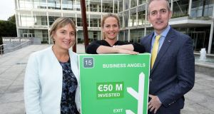 From left:  Julie Sinnamon, chief executive Enterprise Ireland,  Olive O'Driscoll, chief executive AventaMed,   and Michael Culligan, national director HBAN