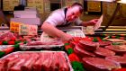 Ben Fox butcher at Fays on Thomas Street.Photograph: Cyril Byrne