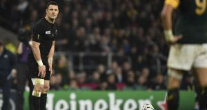 Dan Carter is the complete player. His tactical kicking, his passing, his defending were all on the money against South Africa at Twickenham. Photograph: Martin Bureau/AFP/Getty Images