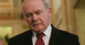 "Sinn Féin's Martin McGuinness: ""Is a deal achievable? I think with goodwill on all sides it is achievable . . . I do think we are talking more about days rather than weeks."" Photograph: Niall Carson/PA Wire"