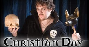 A judge in Salem, Massachusetts, has granted a self-proclaimed witch's request for a restraining order to keep self-proclaimed warlock Christian Day (pictured) and business rival from harassing her. Image: christianday.com