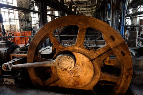 Inside Knappenrode Briquette Factory and Museum.  Photograph:Frank Miller  / The Irish Times