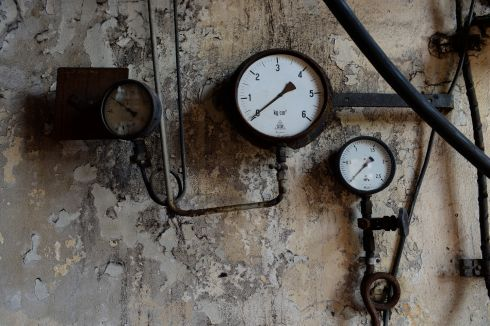 Pressure gauges at Knappenrode Briquette Factory and Museum. Photograph:Frank Miller  / The Irish Times