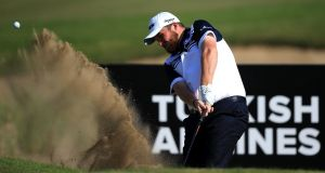 Shane Lowry: the Offaly man is seeking to improve on his fifth place in the Race to Dubai standings at the Turkish Airlines Open. Photograph:  Jan Kruger/Getty Images