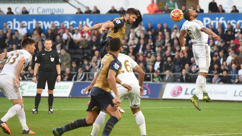 0459786bd837 Arsenal take time warming to winning task in Swansea