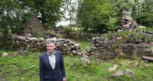 Cllr Seán Ó Tuairisg at The Quiet Man cottage in Tiernakill South near Maam, Co Galway. Photograph: Joe O'Shaughnessy