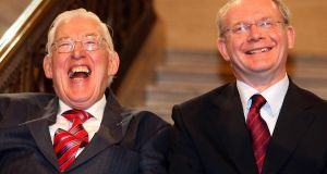 The late Ian Paisley and with  Martin McGuinness. His son Kyle Paisley said  after 30 years of conflict in the North it is difficult for some, in every denomination, 'to make peace with their enemies' but 'you've got to,'. Photograph: Paul Faith/Pool/PA Wire