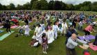 Yoga  at St Anne's Park in  Dublin. Local residents may object to the planned development so close to the amenity.  Photograph: Eric Luke