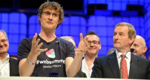 Paddy Cosgrave, founder of the Web Summit, with Taoiseach Enda Kenny  last year. Photograph: Eric Luke
