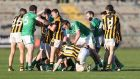 Crossmaglen joint-manager Oisinn McConville is satisfied none of his players were guilty of biting Cargin's Michael McCann and sparking a mass brawl during Sunday's Ulster championship game. Photograph: Inpho