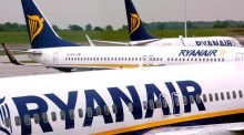 Ryanair rose by 3.2 per cent after a strong set of results in the six months to the end of September. Photograph: Andy Rain/EPA
