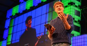 Paddy Cosgrave opens the Web Summit 2015 at the RDS, Dublin.   Photograph: Eric Luke / The Irish Times