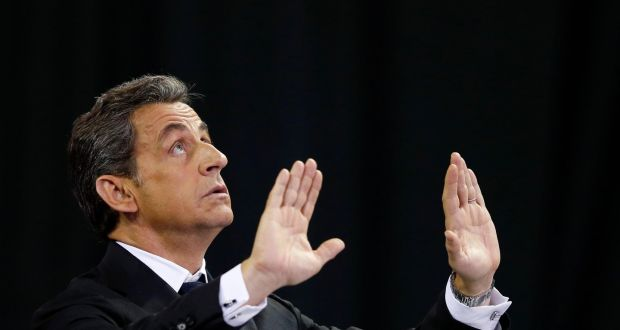 "Former French president Nicolas Sarkozy: Lashed out at authorities for having put him under investigation in connection with ""Air Cocaine"". Photograph: Reuters"