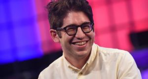 Kickstarter cofounder Yancey Strickler at the  2015 Web Summit in the RDS, Dublin, yesterday. Photograph: Stephen McCarthy/Sportsfile