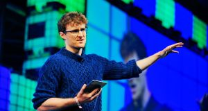 Web Summit co-founder Paddy Cosgrave at the RDS yesterday. Photograph: Aidan Crawley/Bloomberg