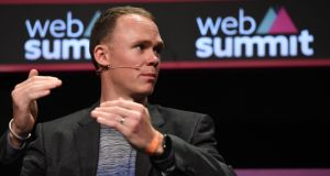 "Chris Froome at the Web Summit in the RDS: ""It sounds silly, but we really are on that edge, pushing our bodies to the absolute limit, day in, day out."" Photograph: Brendan Moran/Sportsfile."