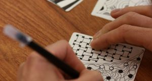 Zentangle is a new art form with roots in calligraphy, drawing and meditation. Photograph: Nick Bradshaw