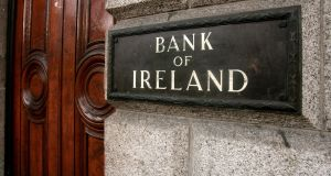Bank of Ireland is to restrict over-the-counter cash withdrawals and lodgements at branches from later this month. Photograph: Getty Images