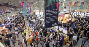 A section of the crowd attending The Web Summit 2015, at the RDS in Dublin. Photograph: Eric Luke/The Irish Times