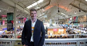 High flier: Jonathan Nicol, chief executive  of Stratajet, at the Web Summit  in  Dublin. Photograph: Eric Luke