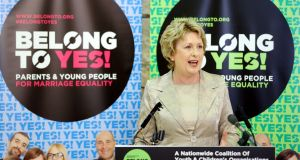 Yes Equality: Mary McAleese, the former president, whose son is gay, speaks in favour of a Yes vote; she was one of the opinion-formers whom the campaign believed voters would identify with