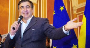 Governor of Odessa Mikheil Saakashvili is determined to make Ukraine's largest region, a model of liberal reform. Photograph: Alexey Kravtsov/AFP/Getty Images