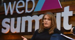 Peggy Johnson of Microsoft at  the 2015 Web Summit in the RDS, Dublin. Photograph:  Paul Mohan / SPORTSFILE / Web Summit