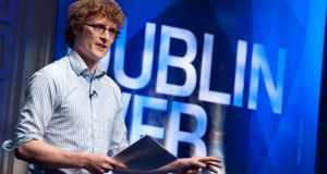 Paddy Cosgrave speaking at the Dublin Web Summit.