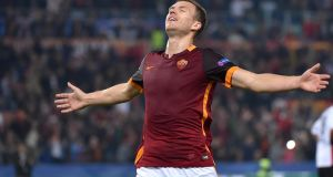 Edin Dzeko's loan transfer to Roma from Manchester City has not gone well in terms of goals and injuries but, ominously for Ireland, the striker is now back amongst the goals. Photograph: EPA/Ettore Ferrari
