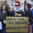 Eimear Clarkin from Wexford pictured at a Repeal the 8th Ammendement rally in Dublin last month. Photograph: Aidan Crawley/The Irish Times