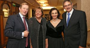 Taoiseach Enda Kenny, his wife Fionnuala Kenny, with  the Taoiseach's  brother Cllr Henry Kenny and his wife Maureen in Breaffy House Resort, Castlebar.  Photograph: Michael Donnelly