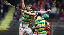 David Cunningham of Glen Rovers attempts to gather possession in yesterday's AIB Munster GAA Hurling Senior Club Championship Quarter-Final against Ballgunner in  Walsh Park, Waterford. Photograph:  Ken Sutton/Inpho