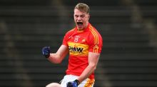 Danny Kirby of Castlebar Mitchels celebrates scoring a goal. Photograph: Cathal Noonan/Inpho