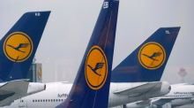German airline Lufthansa fell 2.3 after the company announced hundred of flight cancellations due to a strike action.