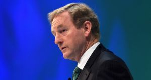 Enda Kenny speaking at the conference of the Confederation of British Industry (CBI) in London. Photograph: Toby Melville/Reuters
