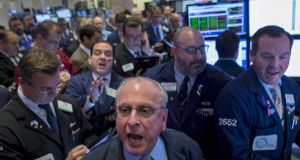 Traders on the floor of the New York Stock Exchange: even novice investors can grasp the simple logic underpinning the case for diversification. Photograph: REUTERS/Brendan McDermid